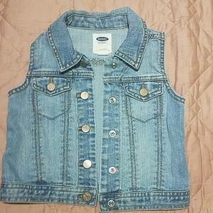 Toddler jeans vest